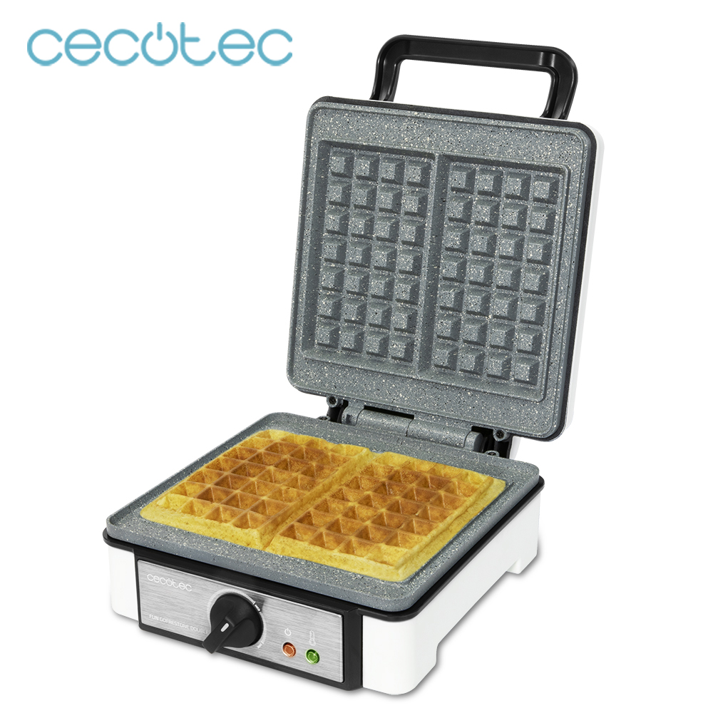 Cecotec Electric Waffle Maker Fun GofreStone Waffle Machine with 1200 W of Power Fun Cooking for Breakfast and Snack Pancake