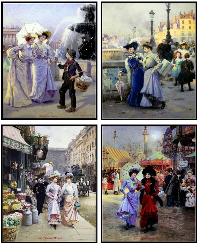 Embroidery Counted Cross Stitch Kits Needlework - Crafts 14 Ct Medium Size DIY Arts Handmade Decor - Street Scene In Paris