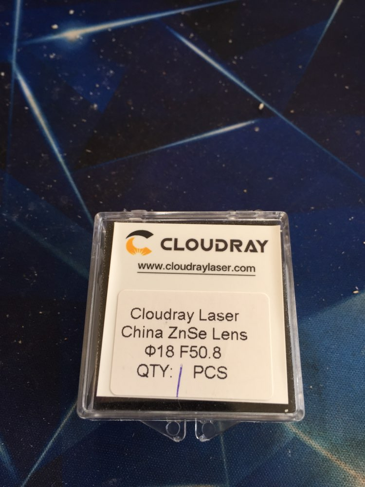 """Cloudray China CO2 ZnSe Focus Lens Dia.18 19.05 20 mm FL38.1 50.8 63.5 101.6 127mm 1.5 - 4"""" for Laser Engraving Cutting Machine"""