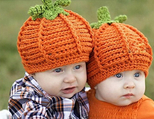 New Arrival Baby Pumpkin Hats Crochet Knitted Baby Kids Photo Props Infant  BABY Costume Winter Hats halloween pumpkin gift d0ae7b5e33ae