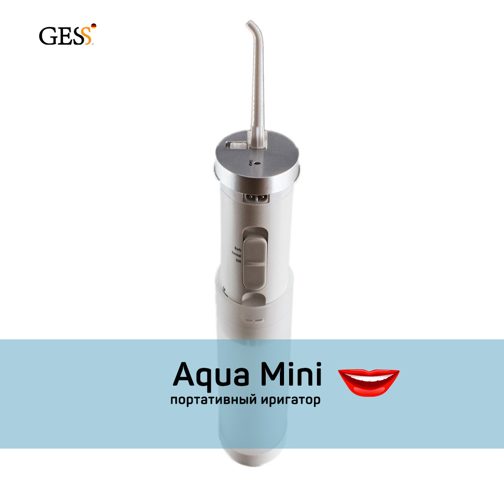 Aqua Mini portable oral Irrigator Professional cleaning teeth Oral Hygiene Toothbrush Tips included Gess fl v8 oral irrigator white blue
