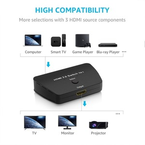 Image 4 - HDMI 2.0 Switch 3X1, 18Gbps 3 Port HDMI 2.0 Selector 4K x 2K Switch Box with High Resolution, High Speed 3D HDMI Port Switch