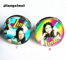 2 pcs (8 estilos) super pop cantor Luna Luna Elenco de Soja de Soja de alta qualidade Anéis de prata EU sou lua Anel de dedo de vidro