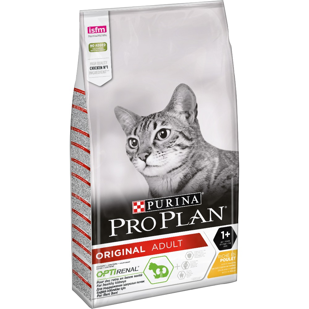 Pro Plan dry food for adult cats from 1 year, with chicken, Package, 10 kg