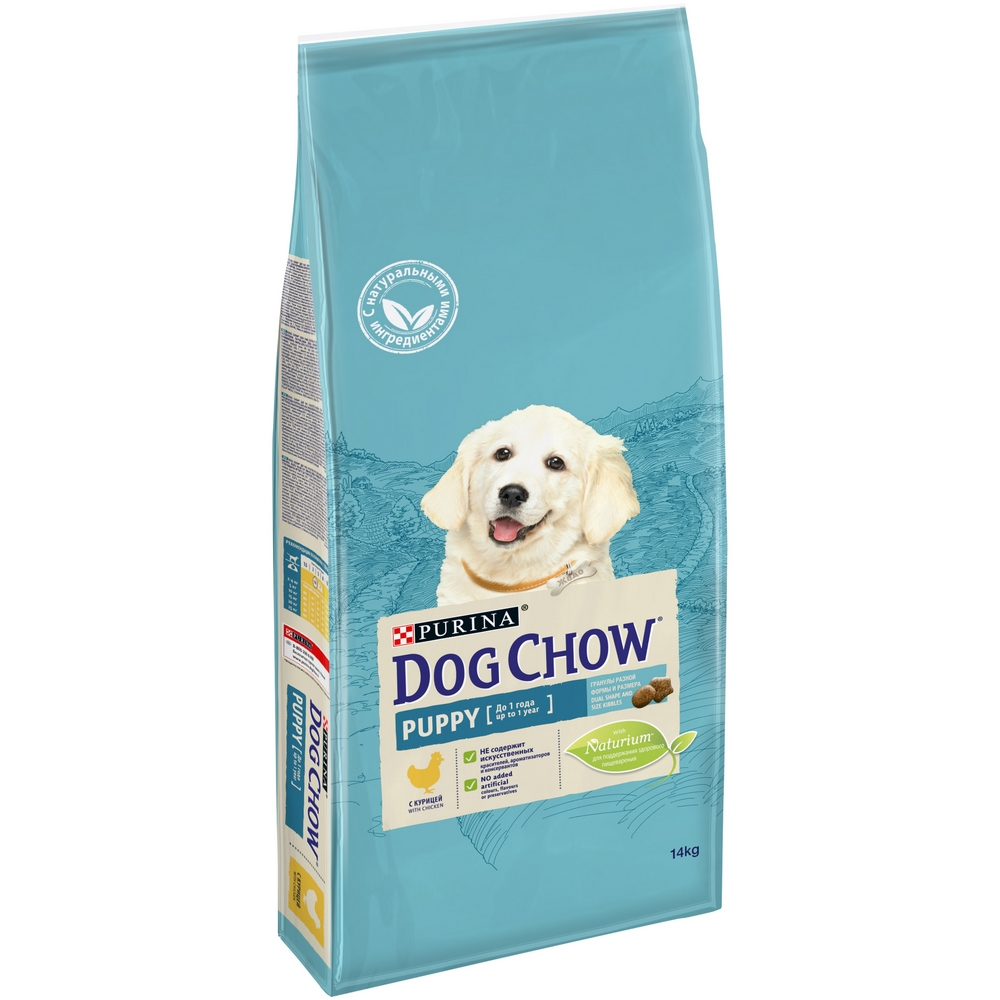 Dog Dry Food Dog Chow Puppy for puppies of all breedss, chicken, 14 kg dog chow dry food for puppies up to 1 year old with chicken 14 kg