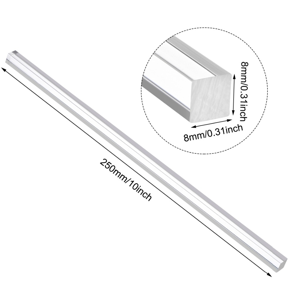 1//4 inch in Diameter Solid Plastic Plastic Lucite PMMA Plastic Bar Stick 2 Pieces 20 inches in Length Round Acrylic Rod Straight Purple line