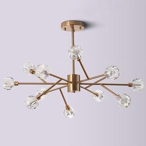 Image 3 - Nordic fashion transparent crystal Pendant Lamps modern living room ceiling lamps bedroom restaurant G9 LED Iron pendant lights