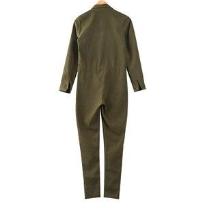 Модный комбинезон-карго, женский комбинезон, облегающий, армейский, зеленый, с длинным рукавом, Повседневный, с карманами, комбинезон Harajuku, комбинезоны, Ropa Mujer