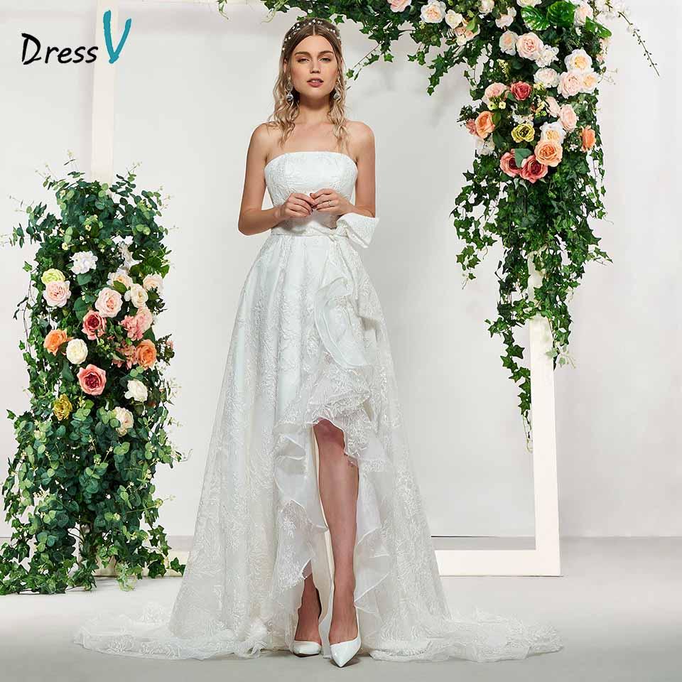 Exquisite Wedding Gowns: Aliexpress.com : Buy Dressv Ivory Strapless A Line Elegant