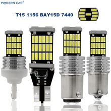 MODERN CAR T15 LED Car T10 45LED 4014 45SMD T16 Bulb Lights Error Free Canbus Parking Lamps Backup Turning Signl Trunk Light