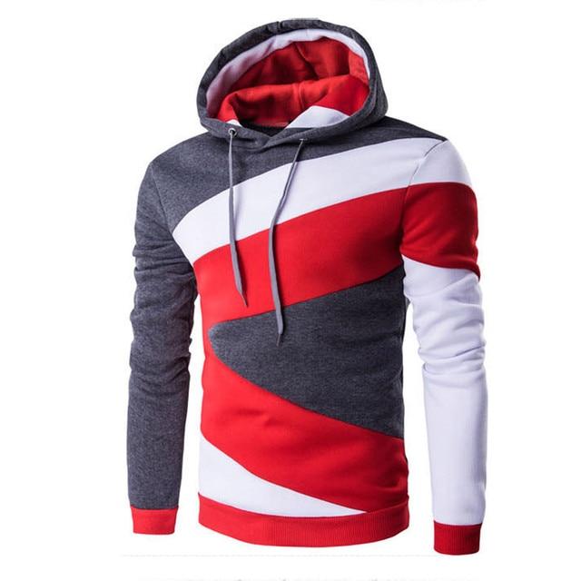 48f254e1b Autumn Winter Men Sweatshirts Long Sleeve Hoodie Hooded Sweatshirt Tops Jacket  Coat Outwear male Tops Shirt Fashion Casual Coats