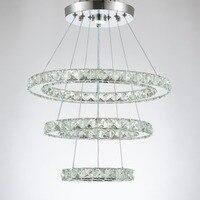 Современная люстра светодио дный лампа Cristal Lustre Хрустальные люстры plafondlamp освещение подвесное хрустальное кольцо светильник