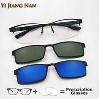 Yi Jiang Nan Brand Half Rim Men Optical Glasses Frame Alloy with TR 90 Legs Prescription Eyeglasses Clip On Glasses Model 9318