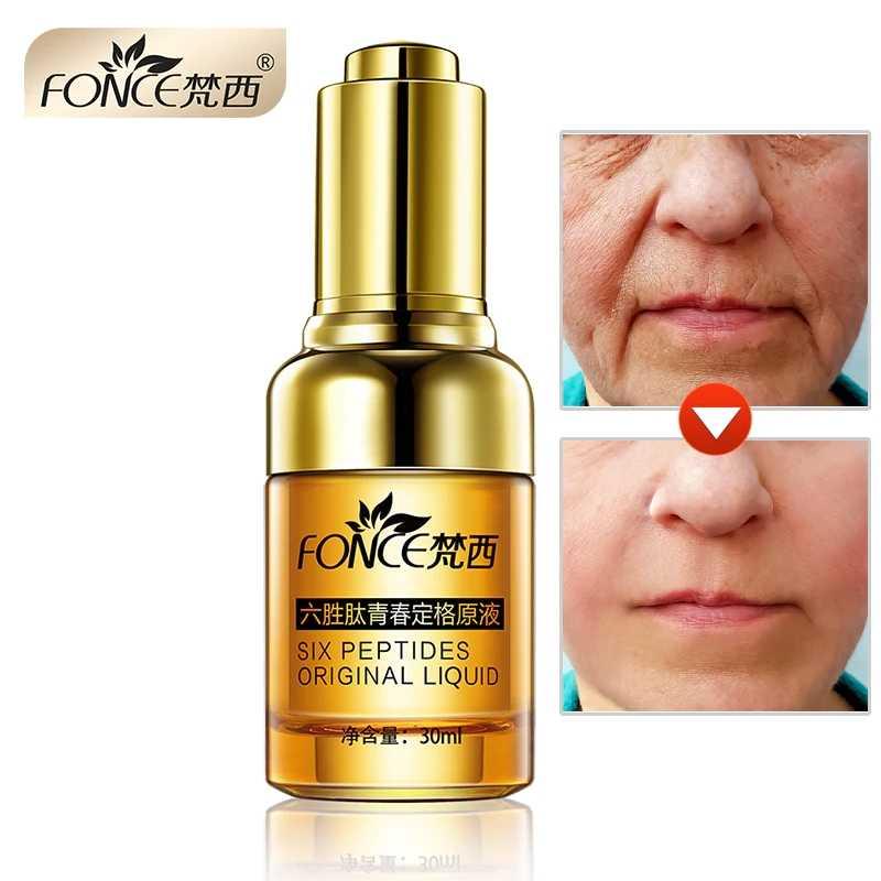 Korea Anti Kerut Remover Facial Serum Tanaman Anti Penuaan Lifting Firming Wajah 25-55 Usia Argireline Enam Peptida Essence 30 Ml
