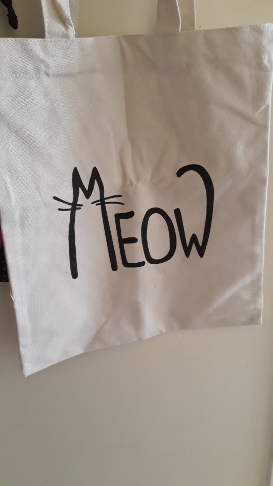 Fashion shopping bag Canvas fabric reusable grocery tote big foldable  striped cotton bags eco sac cute cat print sac shopping photo review