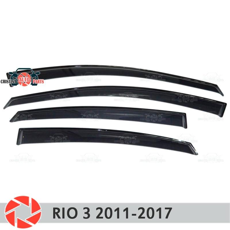 Déflecteur de fenêtre pour Kia Rio 3 2011-2017 déflecteur de pluie protection contre la saleté accessoires de décoration de voiture moulage