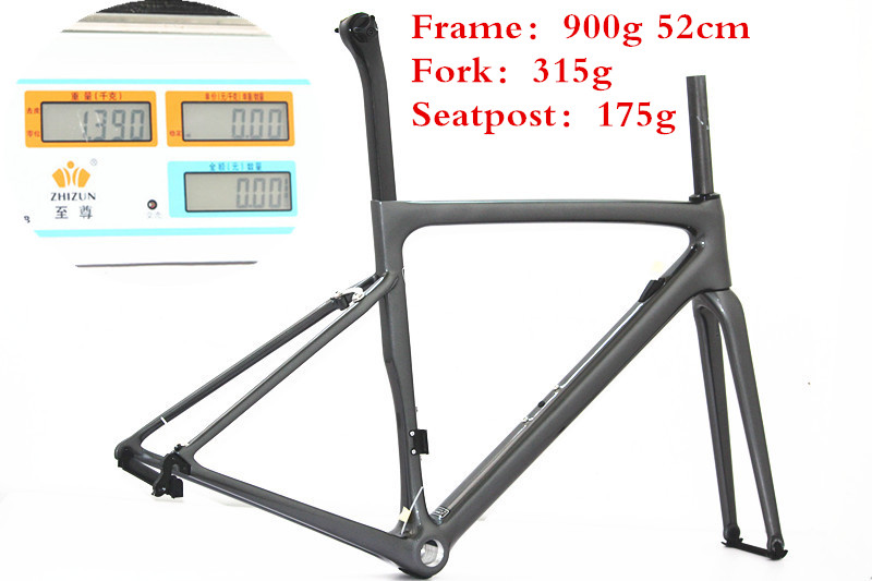 Frame 900g Eurobike Carbon Fiber Road Bike Frame /Carbon Fork /Carbon Seat Post BB30 / BSA OEM Carbon Road Bike Gravel Frame