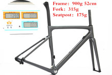 Рамка 900 г Eurobike углеродного волокна дороги велосипеда/углерода вилка/углерода подседельный штырь BB30/BSA OEM углерода дорожного велосипеда Рама с антигравийным покрытием