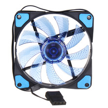 120mm CPU Fan Cooling Case 4 PIN LED Light PC Computer Cooler Graphics Card GPU High Air Flow Cooling Fans For Mining Rig Case