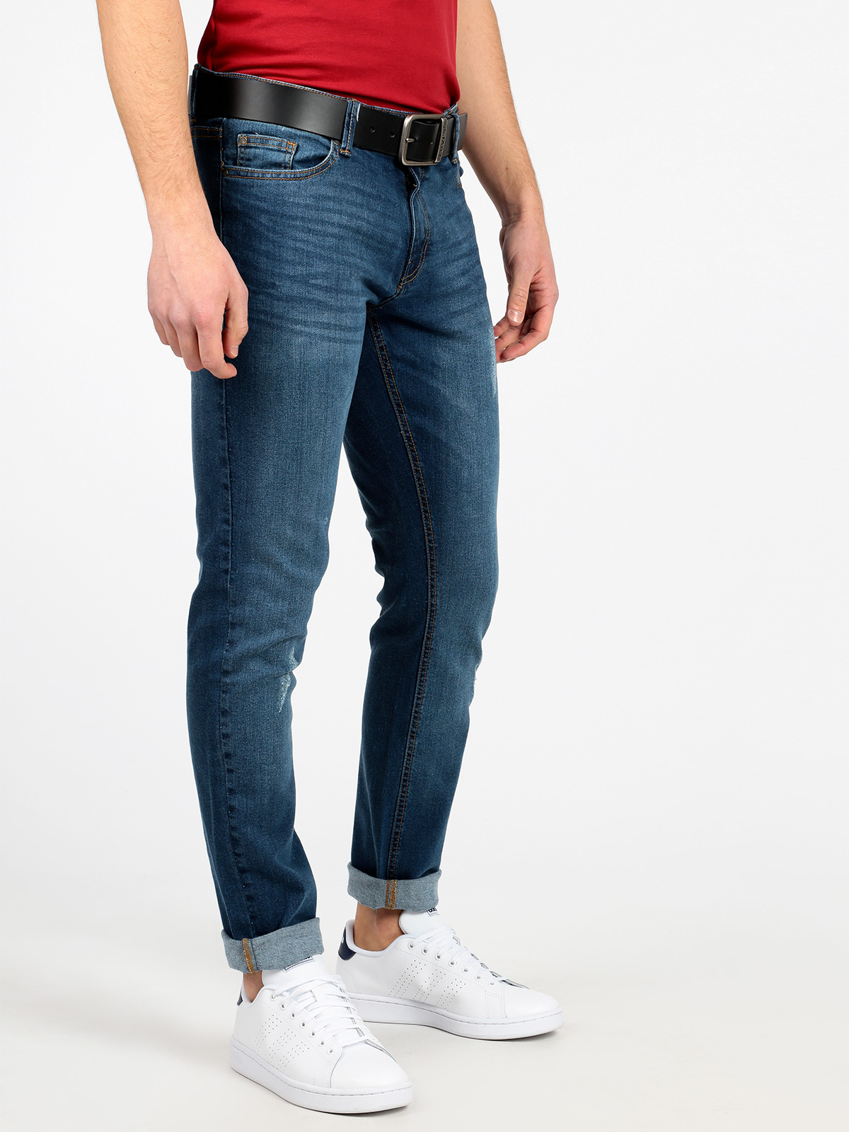THE PEOPLE REP Men's Blue Casual Comfort Denim Pants