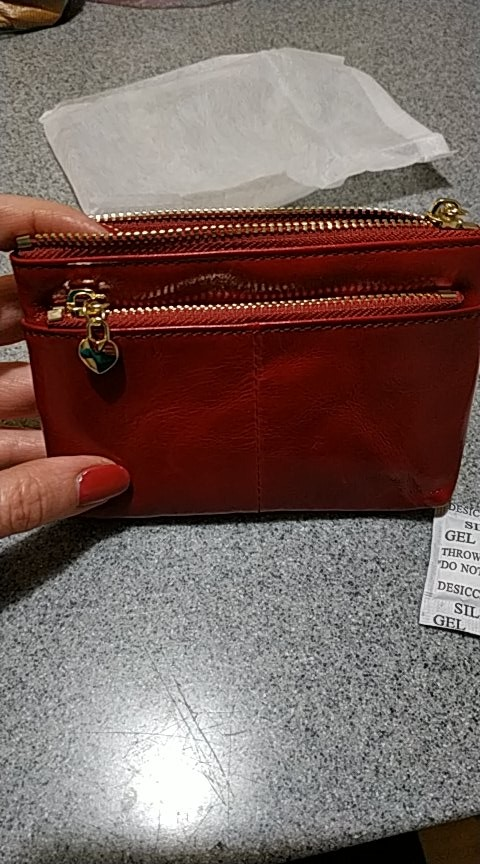 Jamarna Women Coin Purse Genuine Leather Oil Wax Female Card Holder Red Coin Organizer Key Pouch Small Coin Purse Wallets New photo review