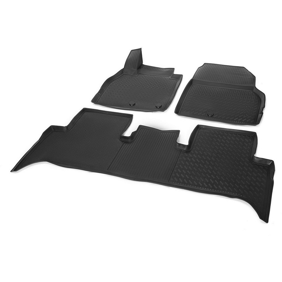 3D floor mats into saloon for Renault Scenic 2006-2010 3 pcs/set (Rival 14708002)