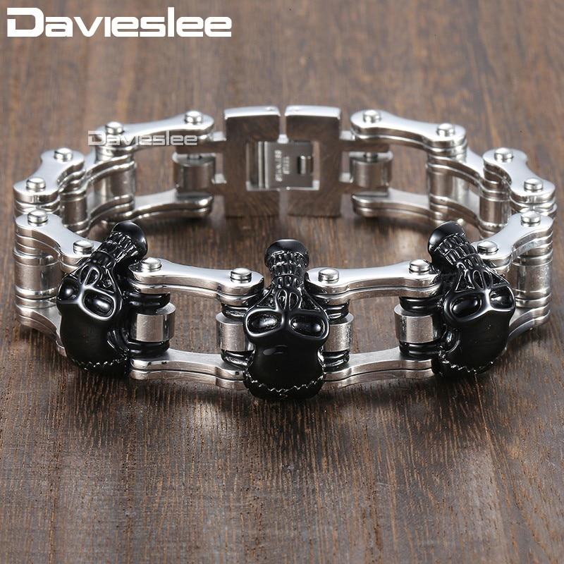 Davieslee Skull Biker Ерлерге арналған - Сәндік зергерлік бұйымдар - фото 6