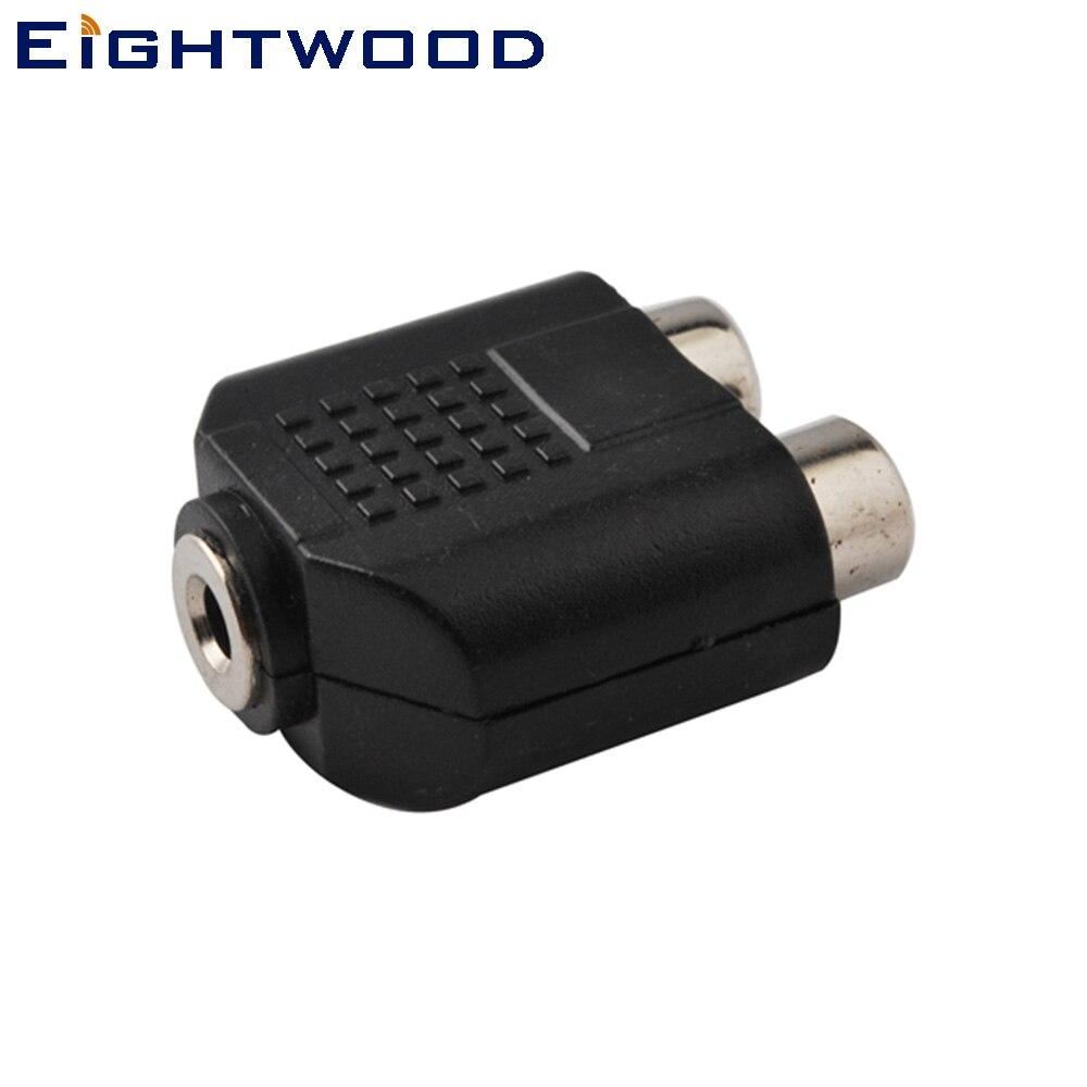 Eightwood 20 шт. автомобильное ТВ, DVD плеера AV Терминал RF коаксиальный адаптер 3,5 мм Джек RCA Jack/Джек аудио кабель/наоборот разъем