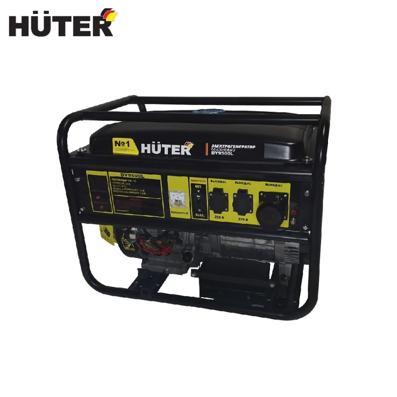 Electric generator Huter DY9500L Power home appliances Backup source during power outages Benzine stations