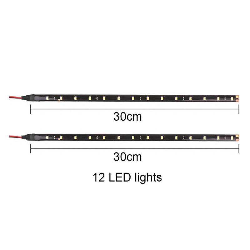 High Power 30 cm Decoration <font><b>LED</b></font> Strip light 5050 SMD Waterproof DC <font><b>12</b></font> <font><b>V</b></font> Daytime Running light <font><b>Bar</b></font> lamp Tape String 2 pcs image