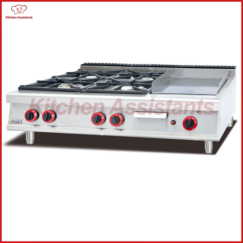 GH796-1 gas range with 4 burner with griddle gh2 gas range with 2 burner for commercial use
