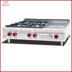 GH796-1 газовая плита с 4 горелки с сковородку