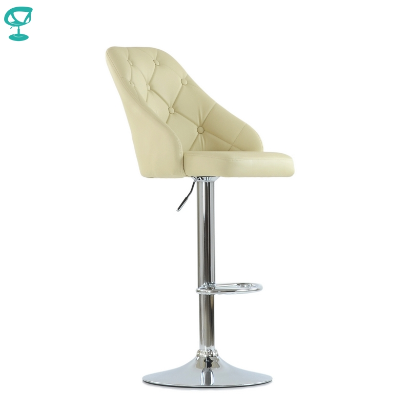 N94CrPuBeige Barneo N-94 PU Leather Kitchen Breakfast Bar Stool Swivel Bar Chair Beige Color Free Shipping In Russia