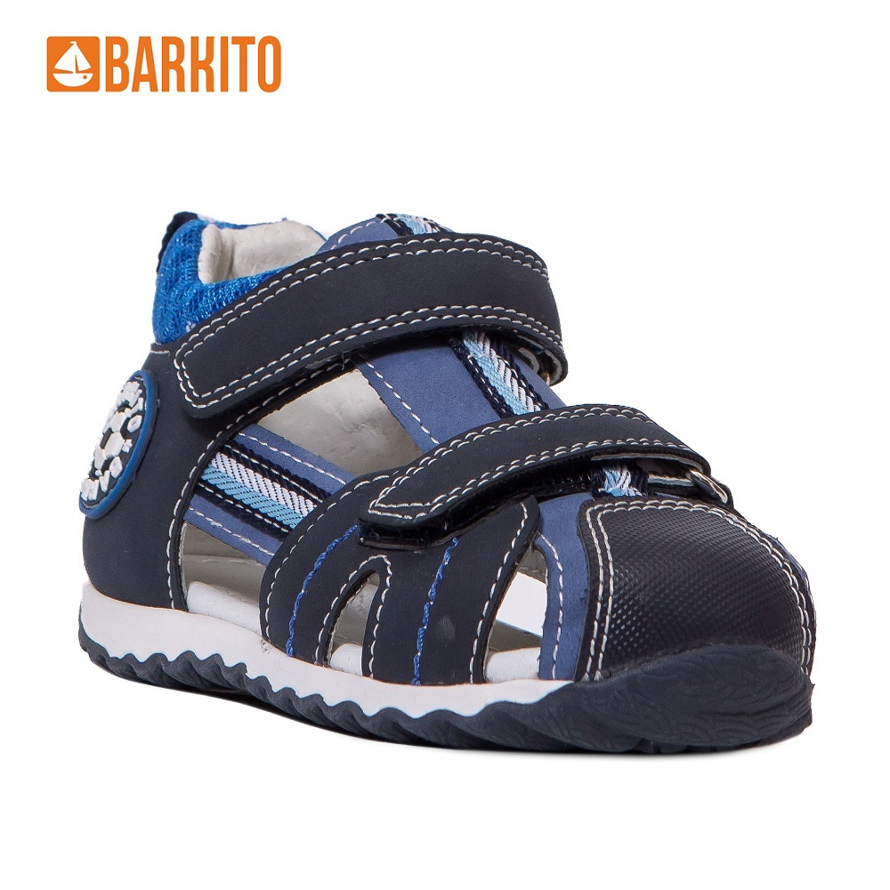 Sandals Barkito 340115 Anklets children shoes Blue Boys 21 Leather men casual shoes breathable leather slippers sandals