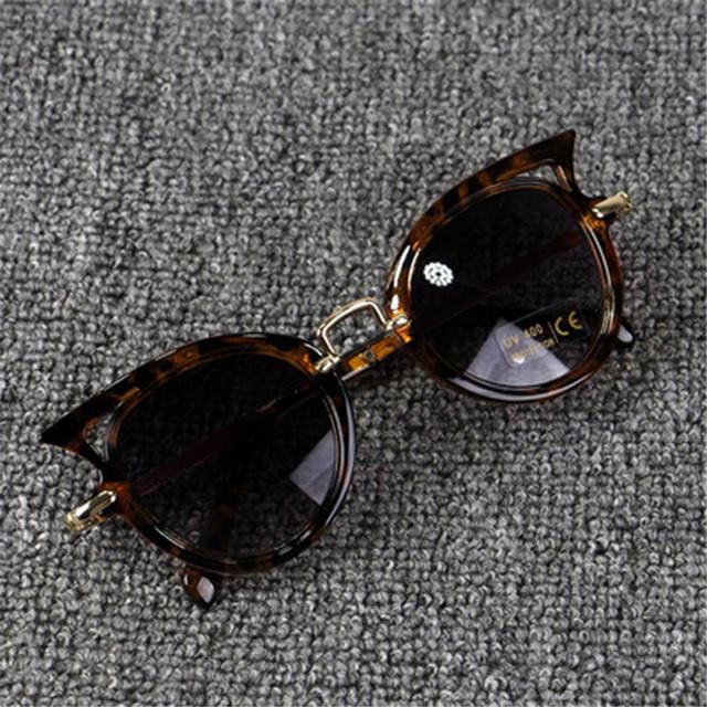 Cute Baby Cat Eye Sunglasses Kids Animal Cartoon UV400 Sun Glasses Children Eyewear Glasses For Girls&Boys Gift