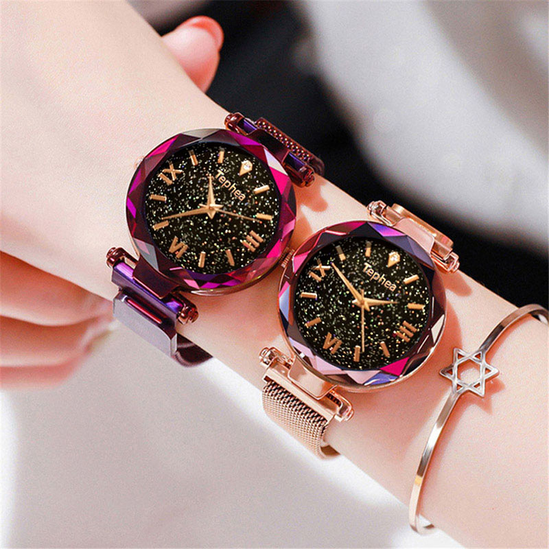 Luxury Women Watches Magnetic Starry Sky Female Clock Quartz Wristwatch Fashion Ladies Wrist Watch reloj mujer relogio feminino (1)