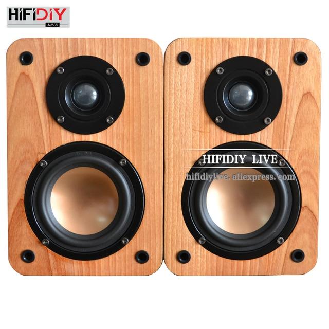 HIFIDIY LIVE Bookshelf Speaker Sound Box 4 Inch HIFI Home Front Theater Around DIY 80W