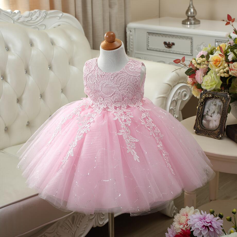 Vintage Baby Girl Dresses Lace Christening Gown 2017 ...