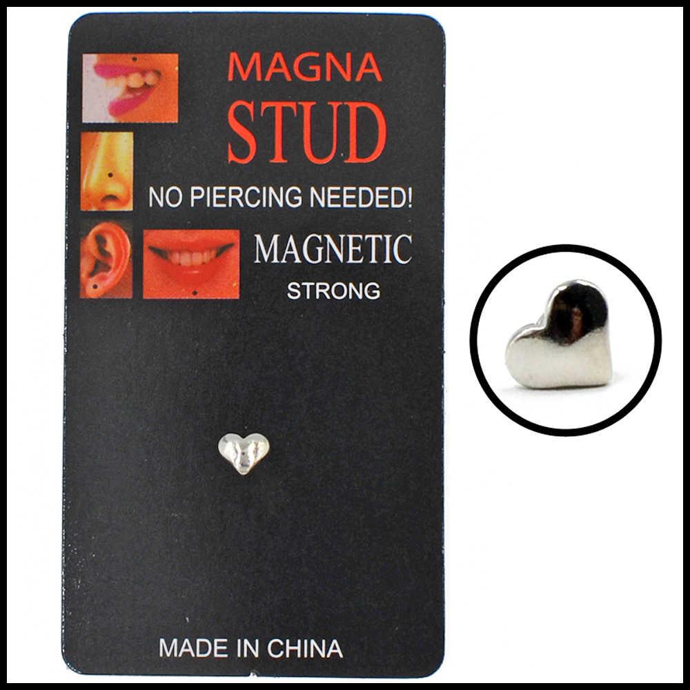 Różne designy fałszywy oszust Piercing nie przebity magnes ucha wargi Labret kolczyk w nosie Stud biżuteria tunel magnetyczny korki kolczyk