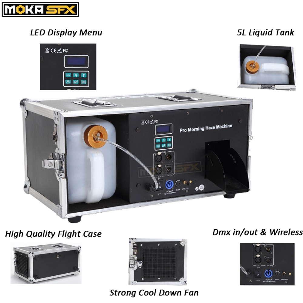 Image 4 - Factory sale directly Pro Morning haze Machine stage fog machine dmx smoke effects hazer machine fast preheat 30 seconds-in Stage Lighting Effect from Lights & Lighting