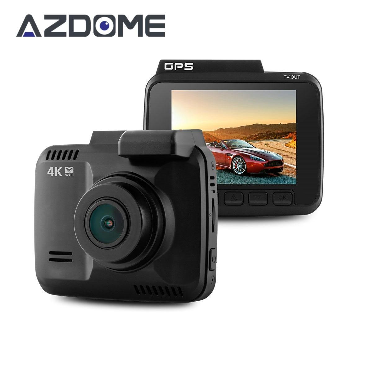 Azdome GS63H WiFi Car DVR Recorder Novatek 96660 Camera Built in GPS Camcorder 4K 2880x2160P Dash