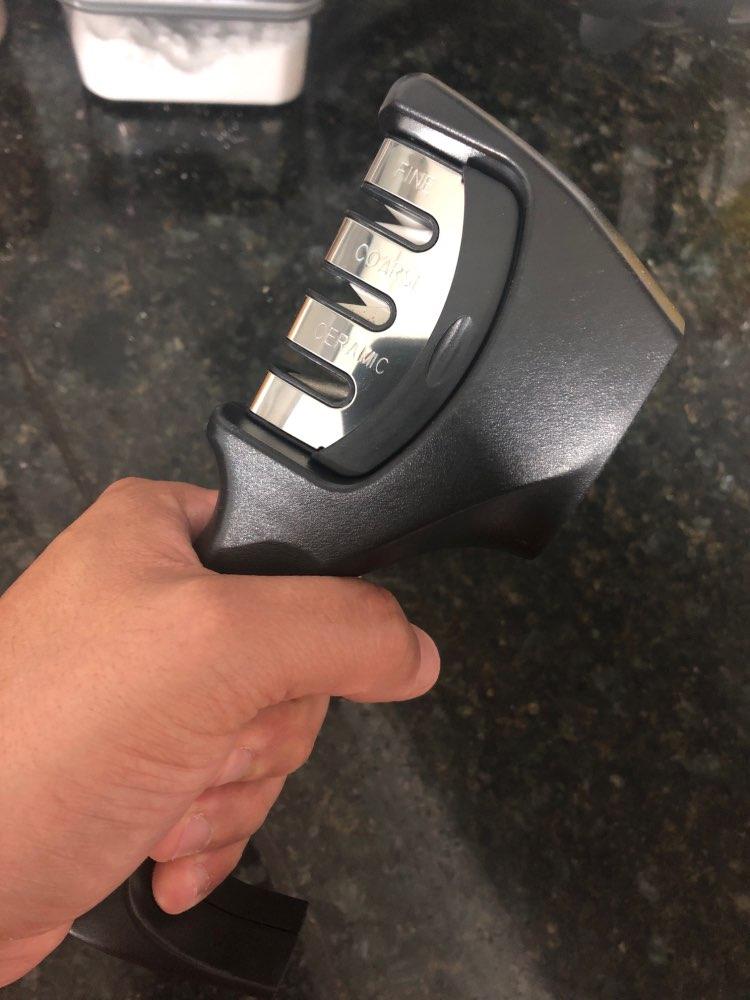 FHEAL Professional Knife Sharpener Stainless Steel Ceramic Knife Sharpening Stone Tungsten Steel Diamond Sharpener Kitchen Tools