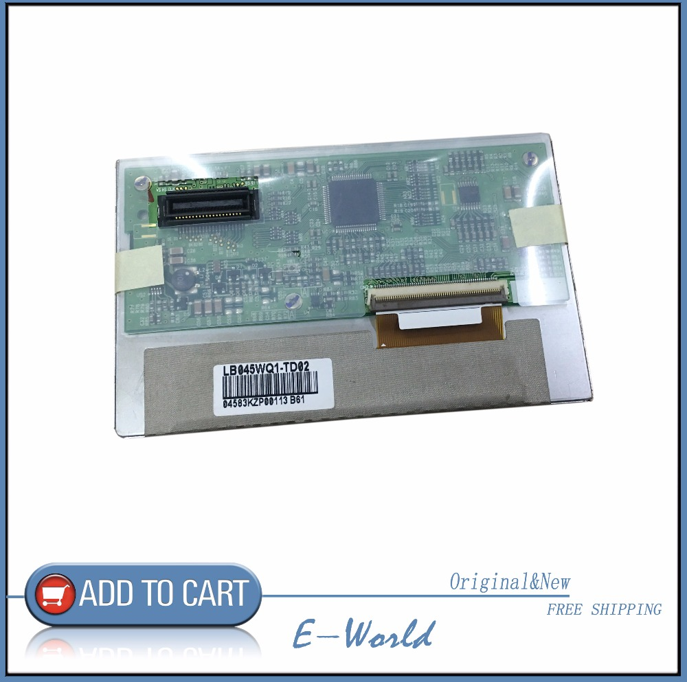 Original 4.5inch LCD screen LB045WQ1-TD02 LB045WQ1 free shipping b101xt01 1 m101nwn8 lcd displays