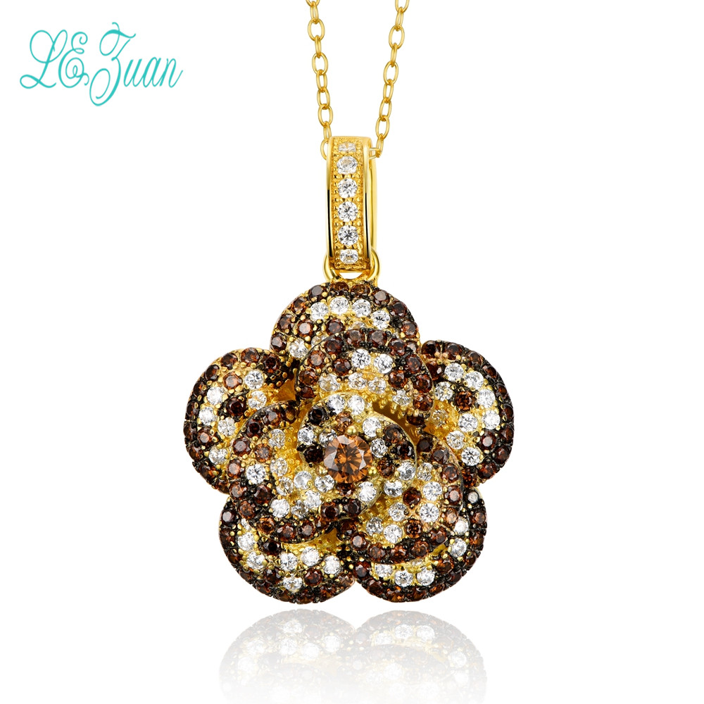 l&zuan Pendant For Necklace Women 925 Sterling Silver Fine Jewelry Baroque Style Vintage Flower Luxury Bijoux Pendentifl&zuan Pendant For Necklace Women 925 Sterling Silver Fine Jewelry Baroque Style Vintage Flower Luxury Bijoux Pendentif