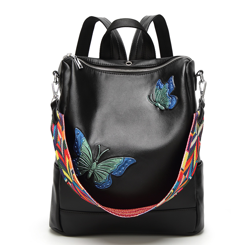 Women Backpack School Bags For Teenagers Girls 2017 Fashion Student shoulder bags Brand Designer Leather large Travel Backpacks luxury brand fashion designer jewelry flower purse shoulder women backpack school bags for teenager girls female travel backpack