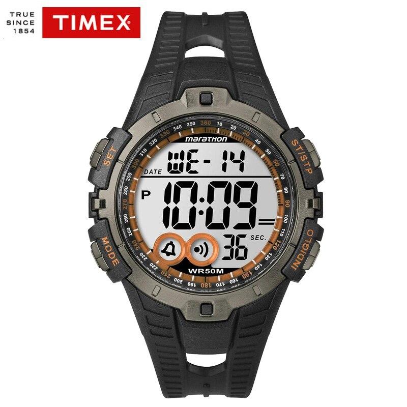 купить TIMEX Original Men Wathces Marathon Series Quartz T5K801 Multi-function Chronograph Alarm Waterproof Outdoor Sport Men's Watches по цене 4878.84 рублей