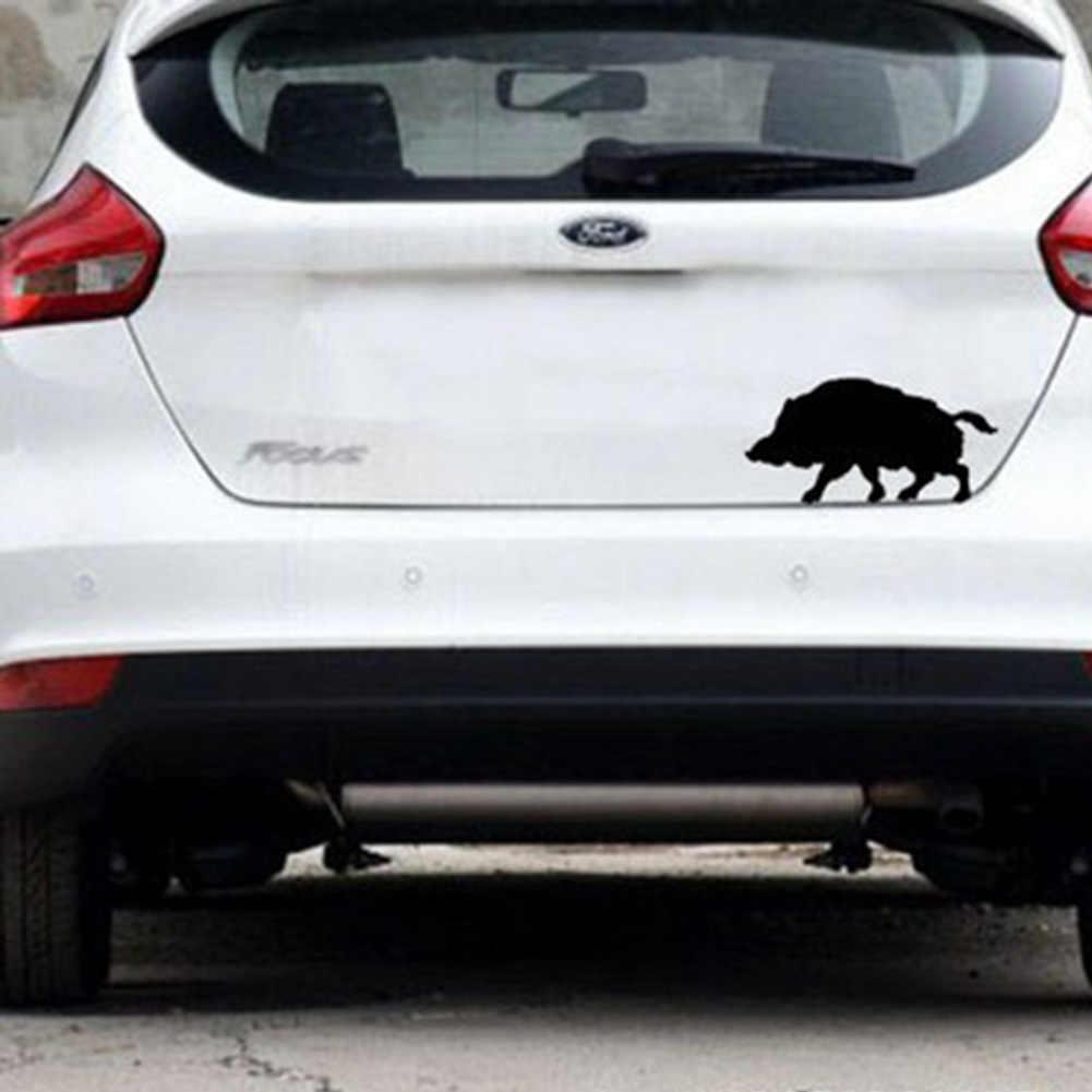 Woeste Jungle Dieren Wild Boar Auto Sticker voor Laptop Window Bumper Deur Waterdicht Vinyl Sticker 2 Kleuren