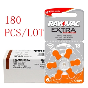 Image 1 - 180 PCS RAYOVAC EXTRA Zinc Air Performance Hearing Aid Batteries  A13 13A 13 P13 PR48 Hearing Aid Battery A13 Free Shipping