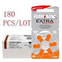 180 pçs rayovac extra zinco desempenho do ar aparelho auditivo baterias a13 13a 13 p13 pr48 aparelho auditivo bateria a13 frete grátis