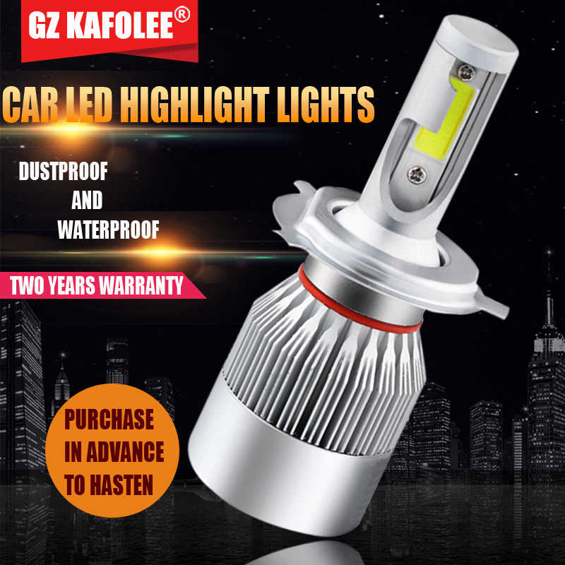 GZ Kafulee LED Light H4 H1 H3 Car Headlight H8 H9 H11 9005 9006 9012 HB3 HB4 h7 Automobiles led lamp  6000K 72W 8000LM